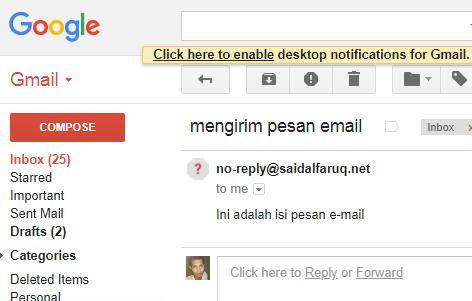 mengirim email dengan script php