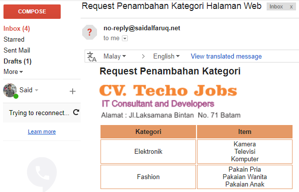 mempercantik email dengan tags html