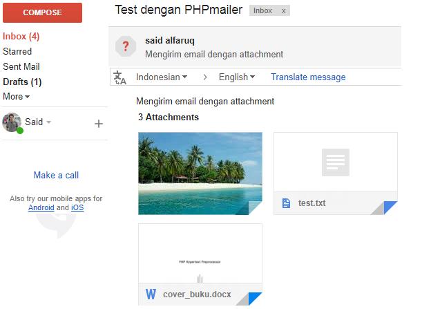 mengirim email dengan phpmailer