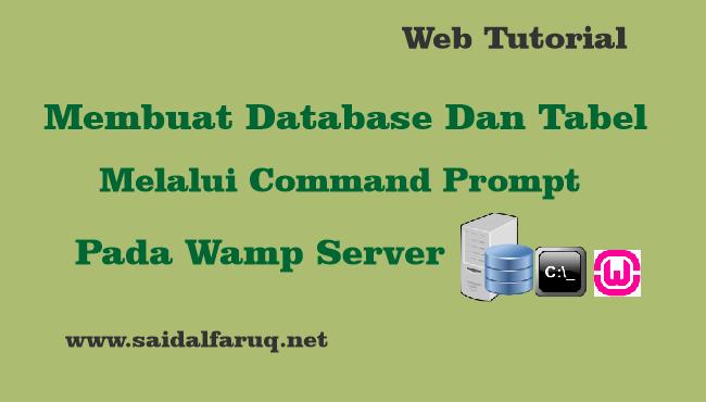 membuat database command prompt