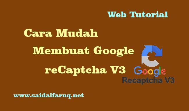 membuat google recaptcha v3