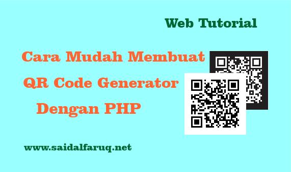 membuat qr code generator dengan php