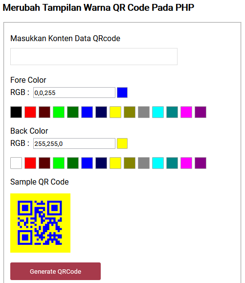 qr code with color