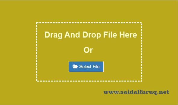 drag dan drop dengan javascript dan php